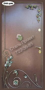 металлические двери с порошковым напылением элементы ковки