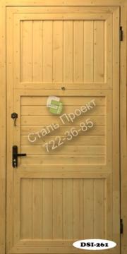 купить входную железную дверь обшитую деревом простую