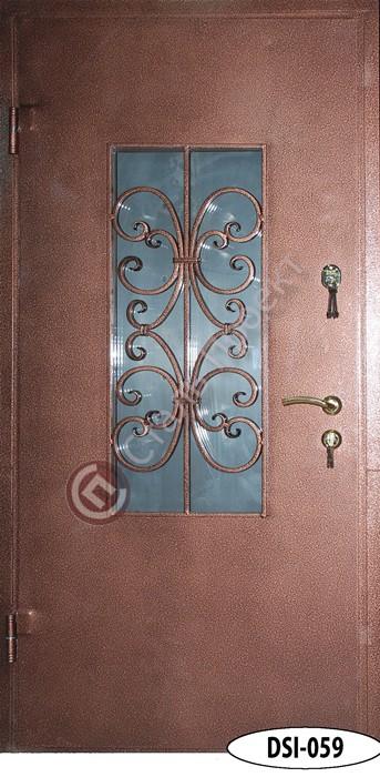 Стальная дверь со стеклом - 8