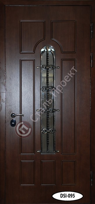 Стальная дверь со стеклом - 11