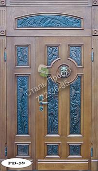 Стальная дверь со стеклом - 1