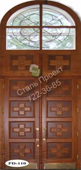 Стальная дверь со стеклом - 2